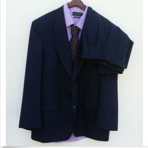 Christian Dior Wool Pants Suit Navy Blue - 41R